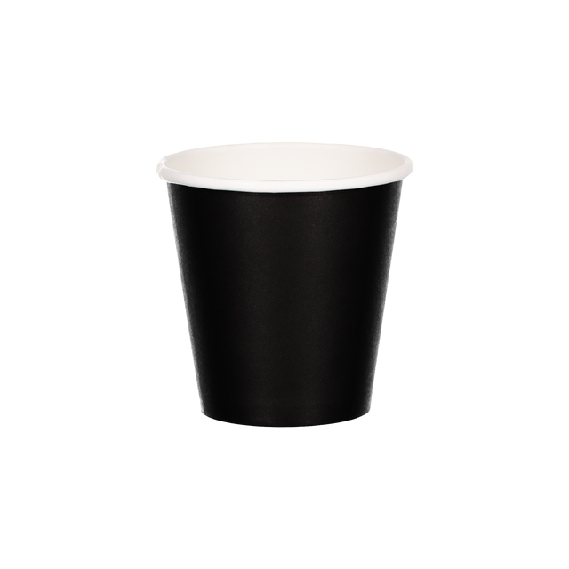 Single Walled Hot Cup - Black