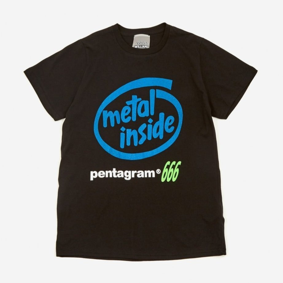 ASHLEY WILLIAMS Metal Inside Short sleeve Tee Black/Blue