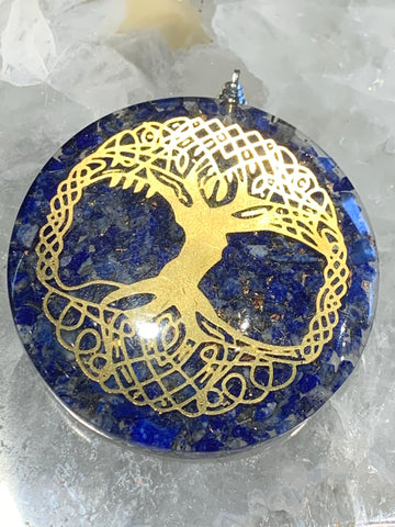 Lapis Tree of Life Orgonite Pendant