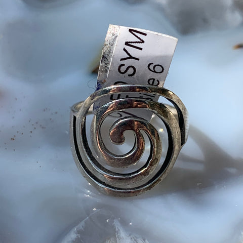 Sterling  Spiral Ring sz 6
