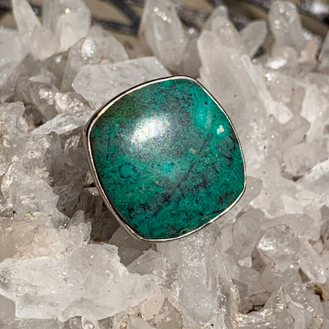 chrysocolla ring sz7