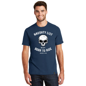 Born to Ride - Men's T-shirt in Light Graphite and Dark Royal Blue | thenaughtylist.com