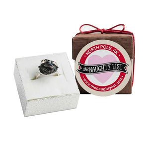 Valentine's Day Coal Ring in Brown Box available at http://www.thenaughtylist.com