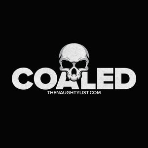Coaled Skull - Adult Fleece Hoodie in Jet Black and White Print - Example 2 | thenaughtylist.com