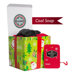 "(SOAP) Christmas Lump of Coal SOAP - ""HO HO HO"" Packaging"