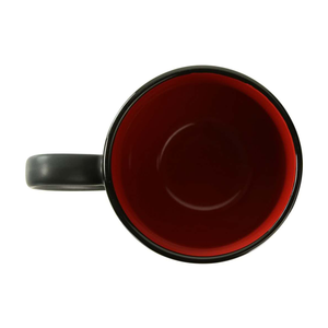 """I Got Coaled"" - Black with Red Coffee Cup Top View - Kona Joe 