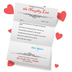 Personalized Letter from Cupid - The Naughty List
