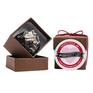 Valentine's Day Coal Lump in Brown Box available at http://www.thenaughtylist.com