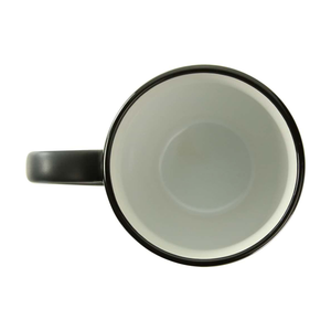 """Naughty"" - Black Coffee Mug with White Inner Finish"