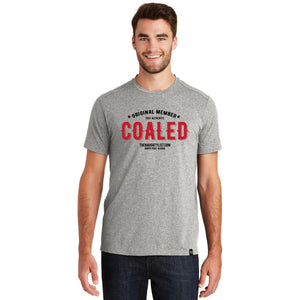 """Original Member"" Coaled - Men's T-shirt in Light Graphite with Black & Red Print 