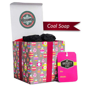 "Large Lump of Coal Soap - ""Pretty-N-Pink"" packaging - Funny Christmas Gift - available at http://www.thenaughtylist.com"