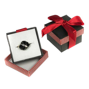 """Everyday"" Coal Ring in a Red Box Available at www.thenaughtylist.com"