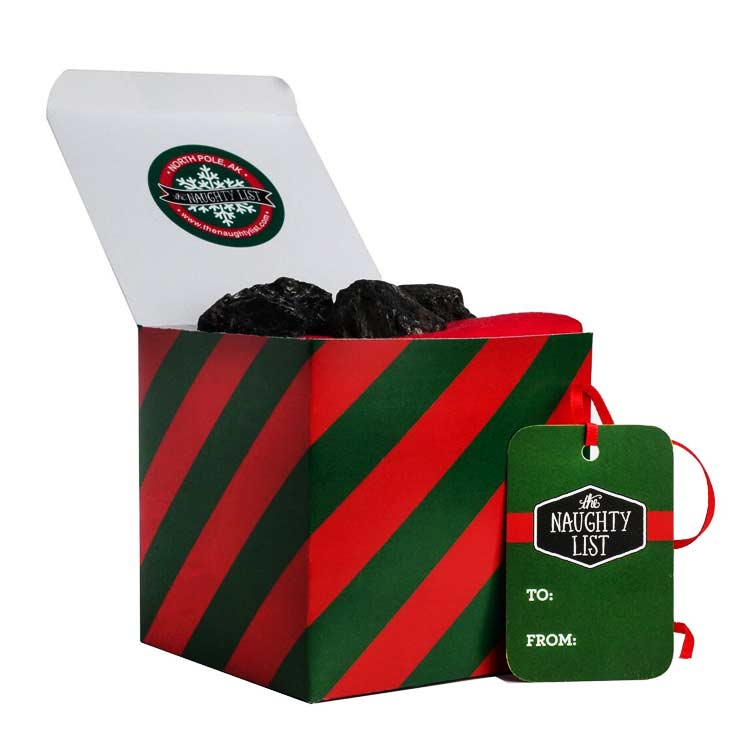 "Large lump of coal - ""Traditional"" packaging available at http://www.thenaughtylist.com"