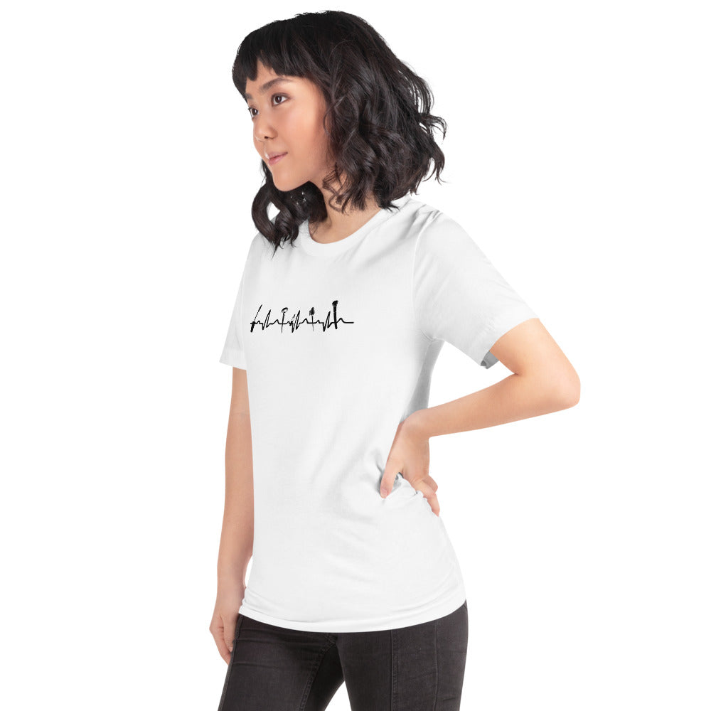 Makeup is My Lifeline Unisex T-Shirt in White
