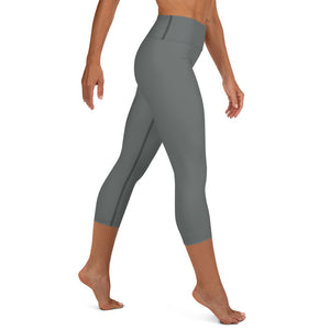 Gray Modern-Ish Yoga Capri Leggings