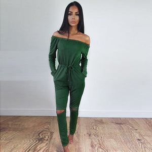 """Date Night"" Off Shoulder Jumpsuit"