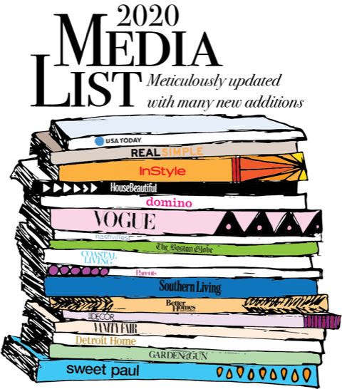 2020 Media List (Lifestyle; Fashion; Interior Design; Food; Travel) over 1150 editors and freelance writers and their email contacts and social media link for each. The ultimate pitch accessory!