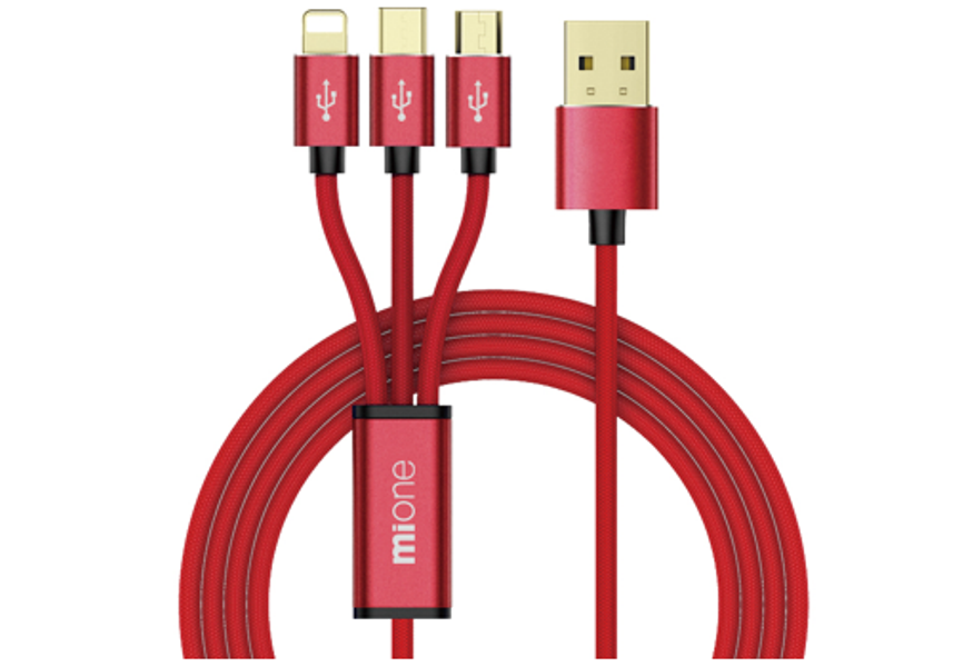 Mione XR03 3 in 1 USB Cable