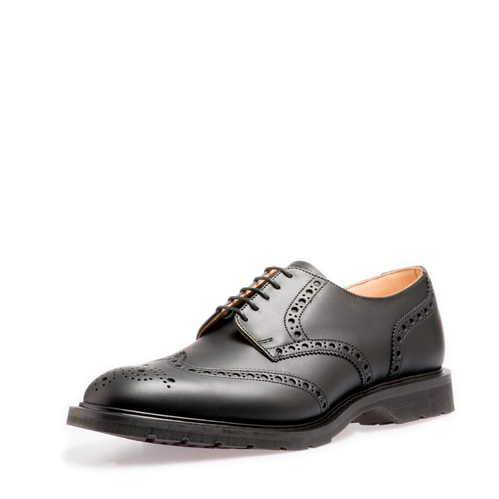 Premium 5 Eye Gibson Brogue in Black