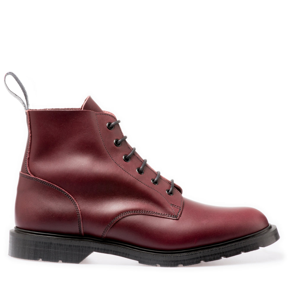 Premium 6 Eye Derby Boot in Burgundy