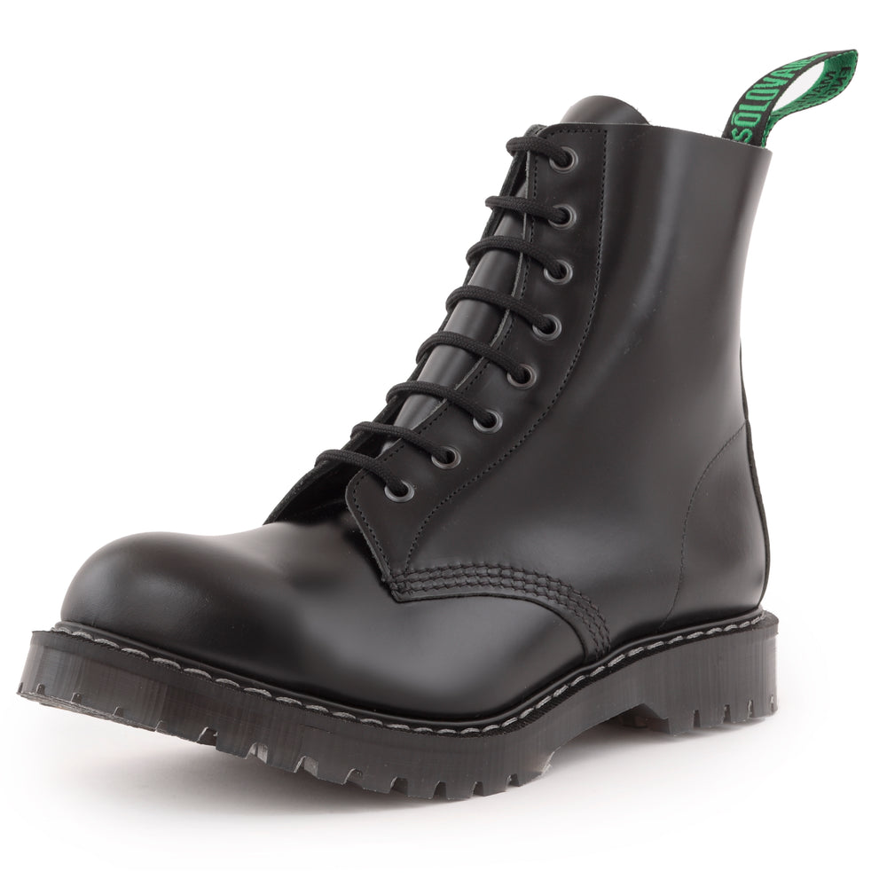Classic 8 Eye Steel Toe Derby in Black