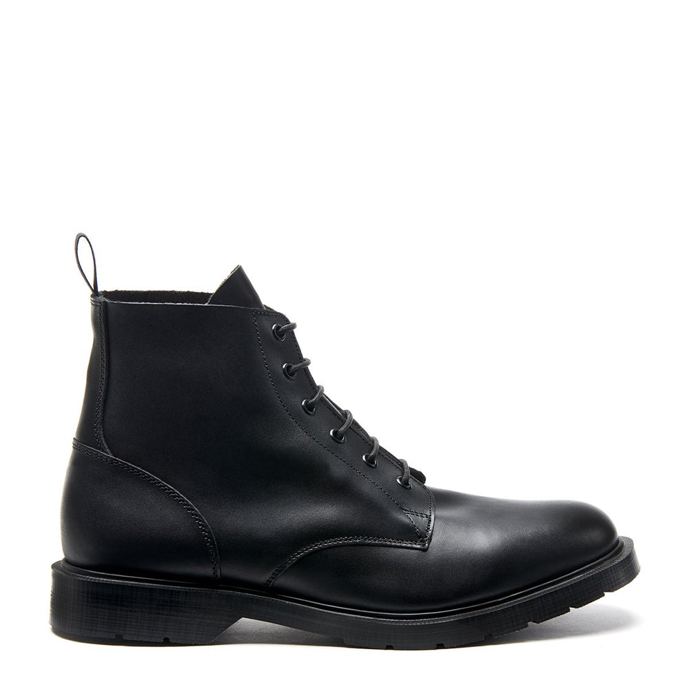 Premium 6 Eye Derby Boot in Black