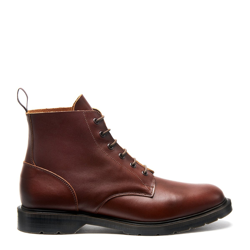 Premium 6 Eye Derby Boot in Chestnut