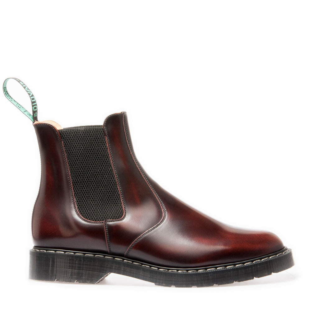 Classic Dealer Boot in Burgundy Rub