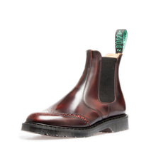 Classic Punched Dealer Boot in Burgundy Rub