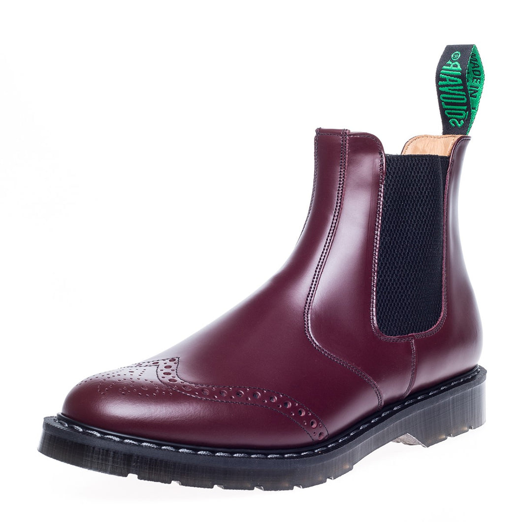 Classic Punched Dealer Boot in Oxblood