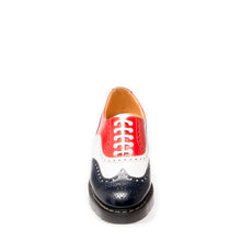 Classic 5 Eye English Brogue in Navy, Red & White