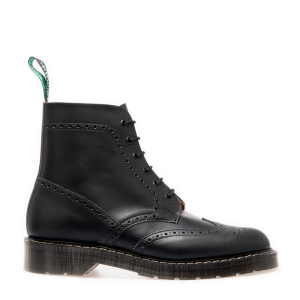 Classic 6 Eye Brogue Boot in Black