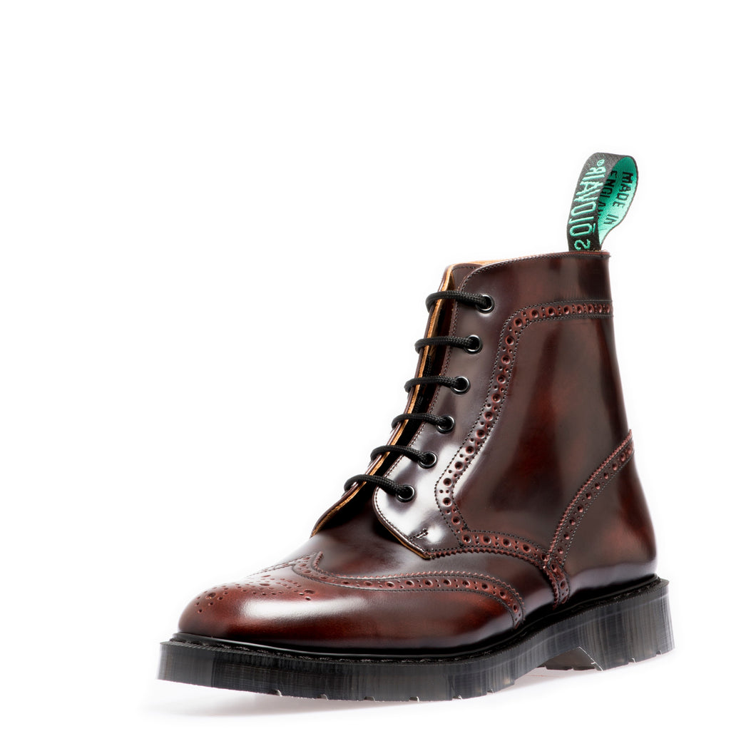 Classic 6 Eye Brogue Boot in Burgundy Rub