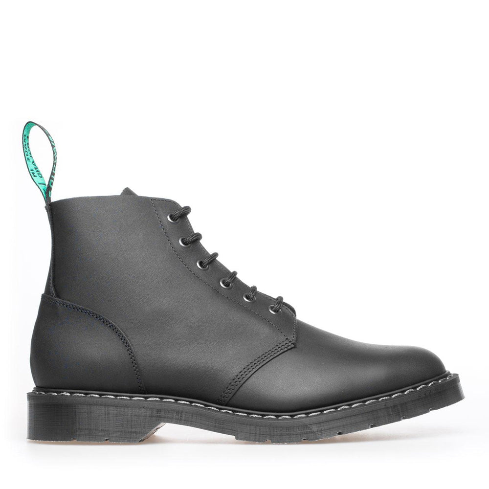Classic 6 Eye Derby Boot in Greasy Black
