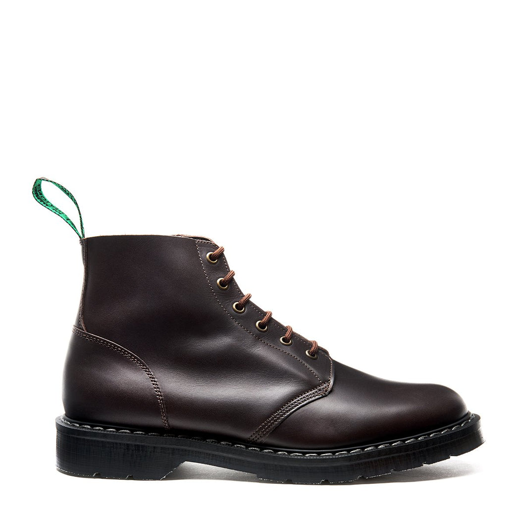 Classic 6 Eye Derby Boot in Greasy Brown