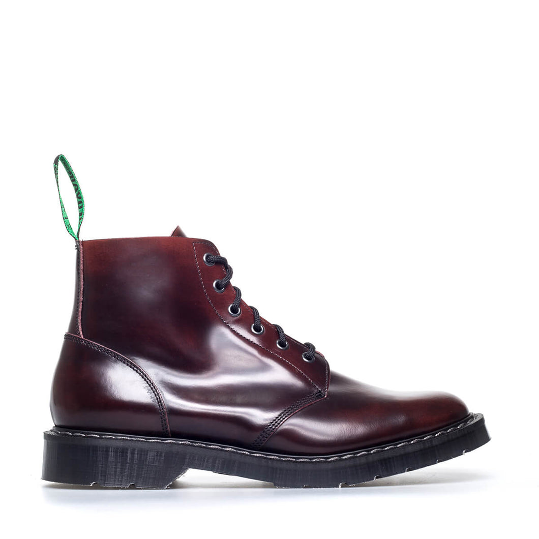Classic 6 Eye Derby Boot in Burgundy Rub
