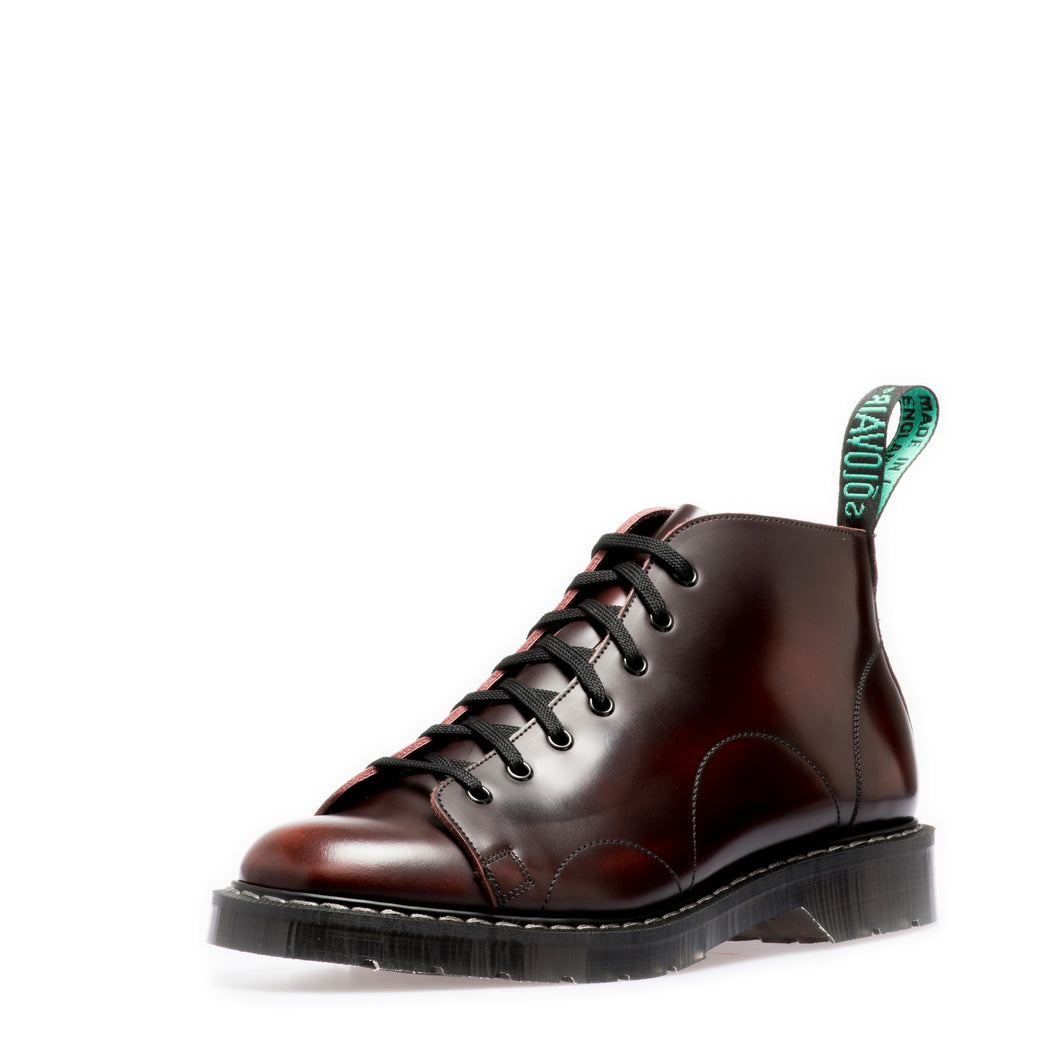 Classic 7 Eye Monkey Boot in Burgundy Rub