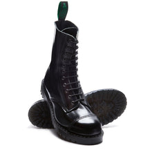 Classic 11 Eye Steel Toe Derby in Black