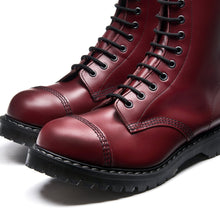 Classic 11 Eye Steel Toe Derby in Cherry