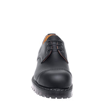 Classic 3 Eye Steel Toe Gibson in Greasy Black