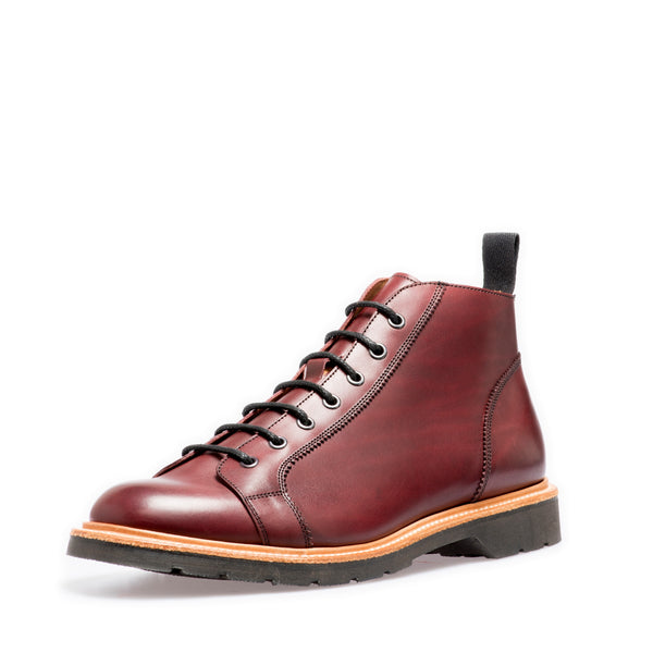 Lifestyle 7 Eye Monkey Boot in Burgundy