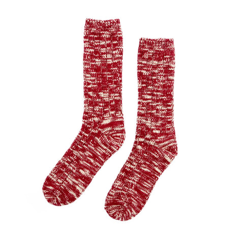 Knitted Socks - Red