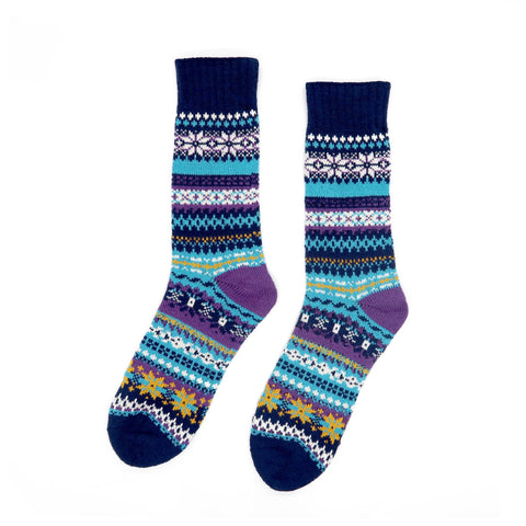 Azul Tribal Sock