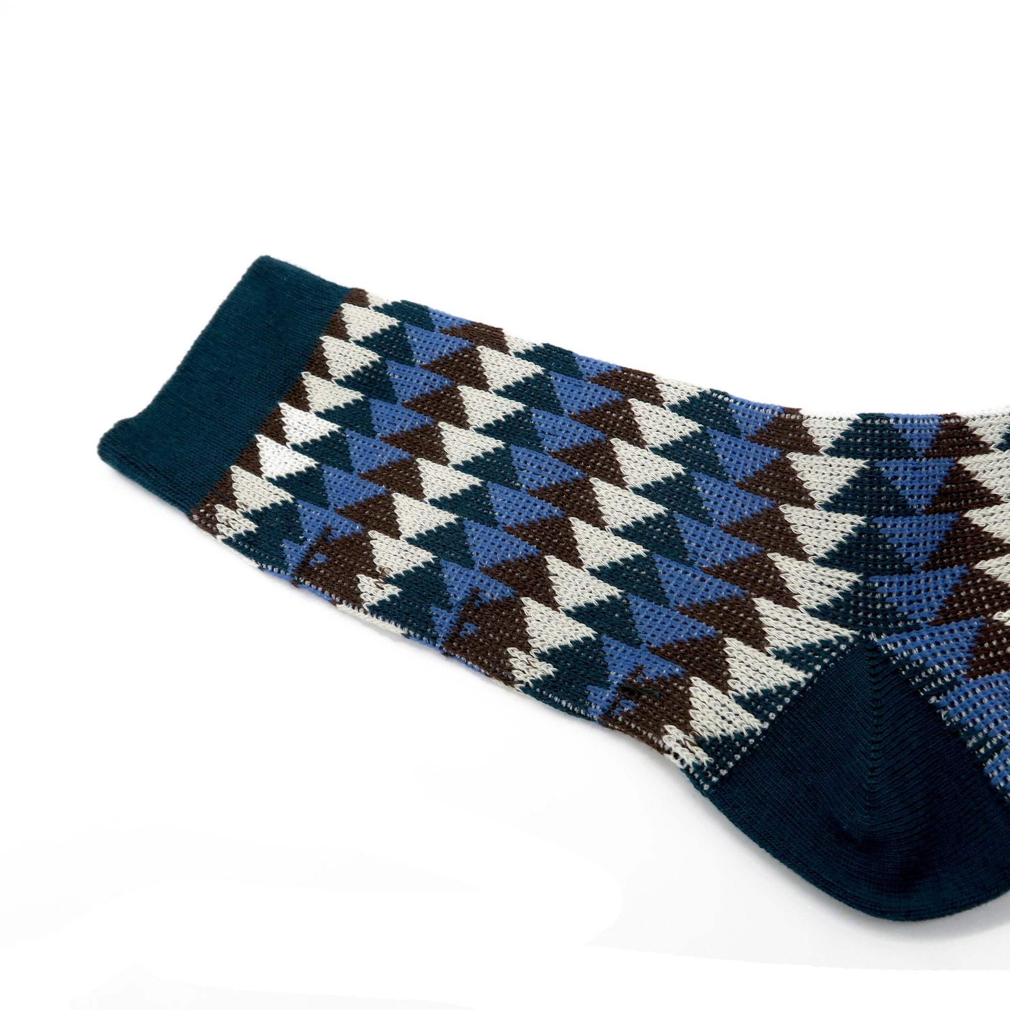 Triangle Stripe Socks - Blue