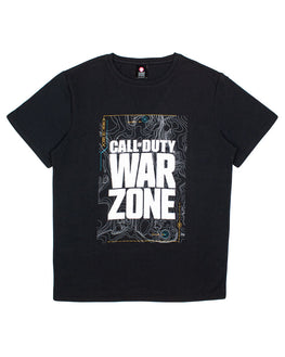 Official Call Of Duty Warzone Black Map T-Shirt
