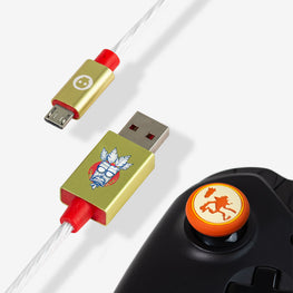 Official Crash Bandicoot LED Micro USB Cable & Thumb Grips (PS4 & Xbox One)