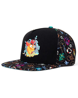 Official Crash Bandicoot Premium Pattern Snapback