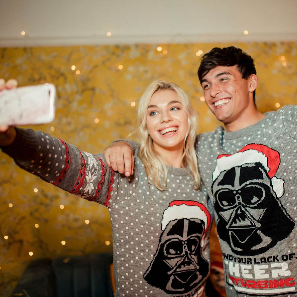 Official Star Wars Darth Vader Christmas Jumper / Ugly Sweater