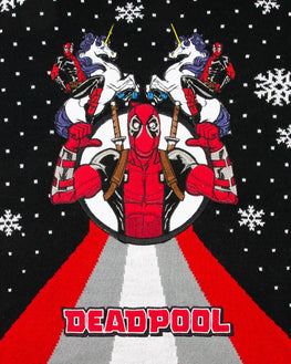 Official Marvel Deadpool Unicorn Christmas Jumper / Ugly Sweater