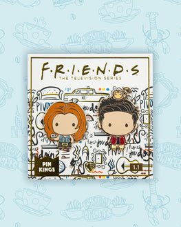 Pin Kings Friends Enamel Pin Badge Set 1.1 - Rachel & Ross